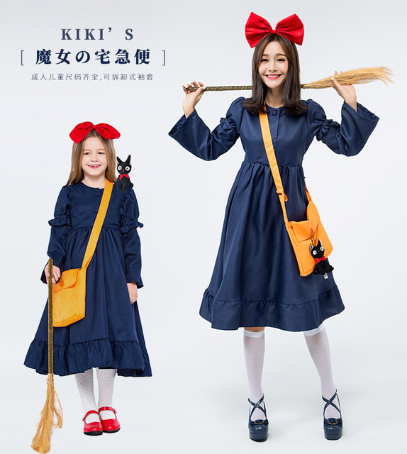 child halloween witch parent child costume anime dress kiki cosplay costumes for adults