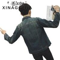 Jean Denim ceket Erkekler Sonbahar Bahar Yeni Tasarım Mens Moda Sıkıntılı Denim Ceket