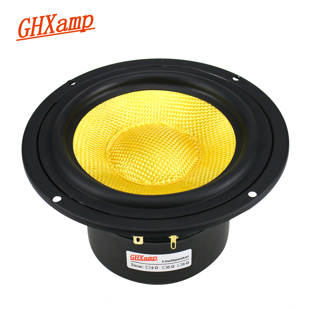 GHXAMP 148MM 5 inch Mid-Bass Speaker Unit 4Ohm 100W Home Theater Fiberglass Cone Mediant Woofer Loudspeaker Bookshelf DIY 1pc bangle