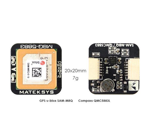 Matek Systems M8Q-5883 GPS & QMC5883L avec Module boussole pour Drone de course FPV longue portée