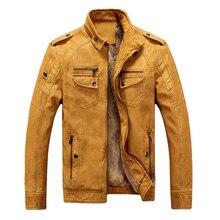Brieuces Brand PU Faux Casual Man Jackets Men Leather Jacket Male Coats Winter Warm Velvet Hombre Veste Motorcycle Outerwear
