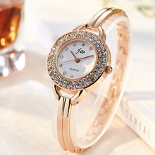 JW Brand Fashion Women's Dress Watches Luxury Crystal Bracelet Quartz Wristwatch Watches Clock Women Rose Gold Casual Watch Gift duoya luxury brand watch women gold dress crystal rhinestone bracelet watch female fashion ribbon quartz clock christmas gift 4