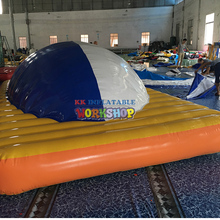 Outdoor water flushing inflatable floating park Water inflatable floating toy water rock climbing or water iceberg inflatable toy size 4 4 1 8 m playing in summer water park used