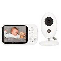 Babykam радионяня с камерой видео няня 3,5 дюймов ЖК дисплей ИК Ночное видение 2 way Обсуждение Температура монитор колыбельные радио няня