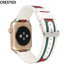 For Apple Watch 4 band 40mm/44mm leather iwatch series 3 2 1 38mm/42mm wrist bracelet watchband belt