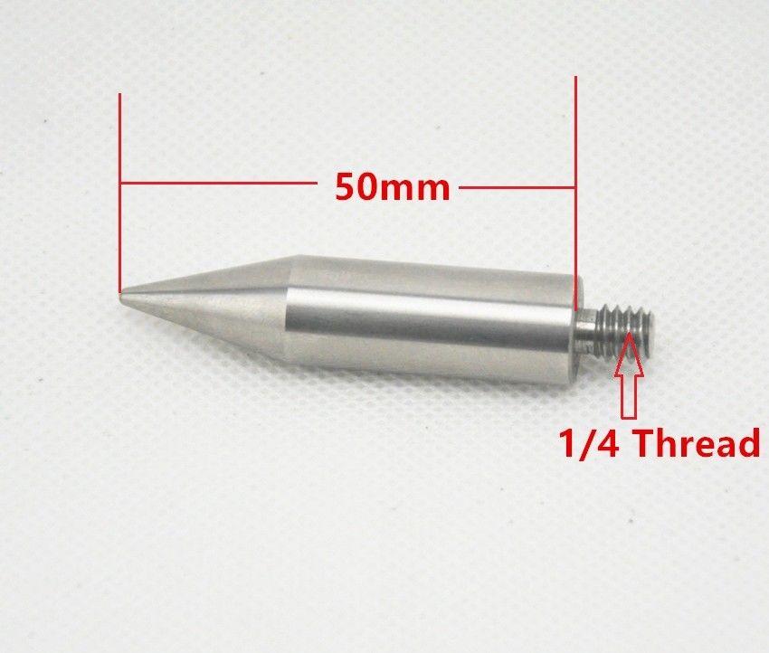 Substituição do Ponto Pólo de Aço New Prisma Mini Inoxidável 1 e 4 Thread Comprimento 50mm. Mini Prisma Sharp Ponto Pólo