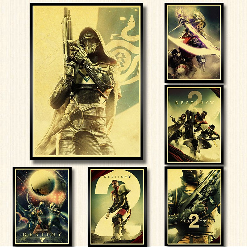 US $2 11 |Destiny 2 Game Poster kraft paper print Wall Painting wall Art  for Home Decor retro poster wall sticker-in Painting & Calligraphy from  Home