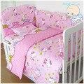 6 unids Hello Kitty paragolpes cuna cuna juego de cama con parachoques juego de cama ( Bumper + hoja + almohada cubre )