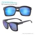 Ligero de plástico Gafas de Sol Polarizadas de Los Hombres gafas de Sol con Protección UV y Espejo de Reflexión para Gafas de Sol