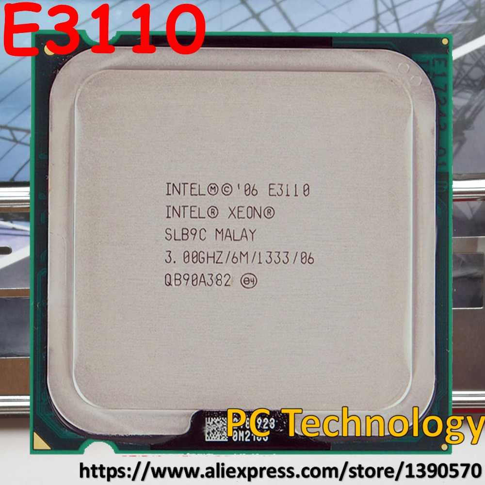 Original Intel Xeon Processor E3110 CPU 3.00GHz, 6M,1333MHz LGA775 ship out within 1 day equal to E8400