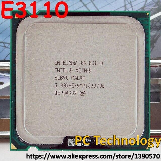 Orijinal Intel Xeon Işlemci E3110 CPU 3.00 GHz, 6 M, 1333 MHz LGA775 ücretsiz kargo 1 gün içinde gemi eşit E8400
