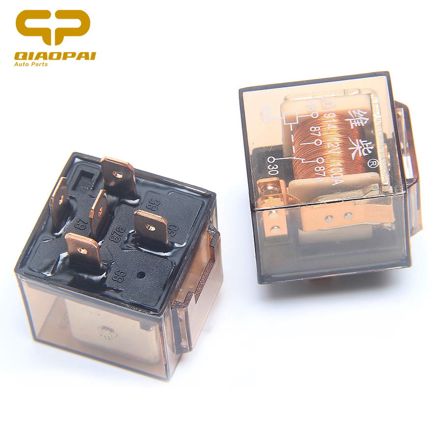 Hot Sale Universal Automotive 12vdc 24vdc 100a Transparent Relay Isuzu Dmax Fuse Box Double Silver Contact Waterproof Car 5 Pin For Daewoo