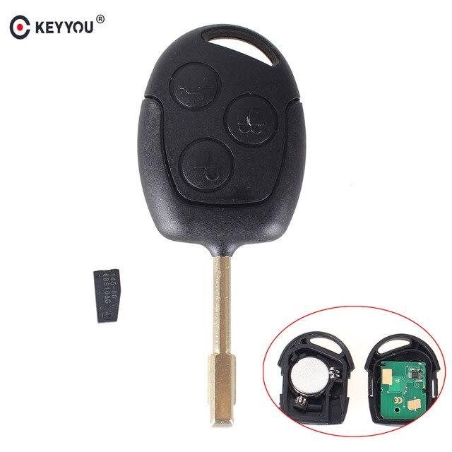 KEYYOU Remote Car Key 433MHz ID46 Chip for FORD Focus Fiesta Mondeo Fusion Transit KA 2001 2002 2003 2004 2005 2006 2007 2008