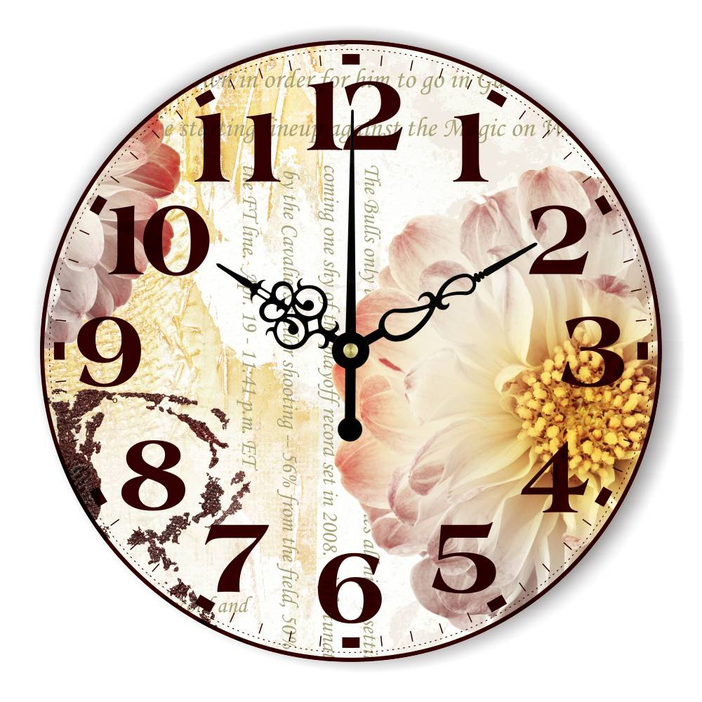 Beautiful Wall Decoration Clock With More Quiet Clock Movement