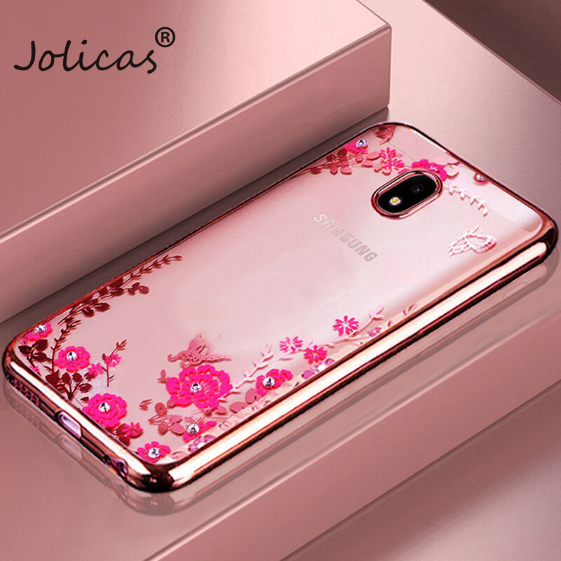 NEW TPU Flower case For Samsung Galaxy S8 Plus S3 S4 S5 S6 S7 Edge A3 A5 A7 J1 <font><b>2016</b></font> <font><b>J3</b></font> J5 2017 J7 J330 J530 J730 Cover Back Case image