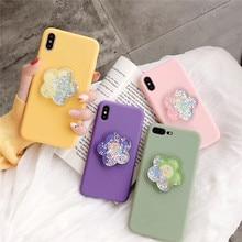 3D liquid quicksand plumeria phone case For iphone XS MAX XR X 6 6s 7 8plus fashion decompression soft TPU capa back shell