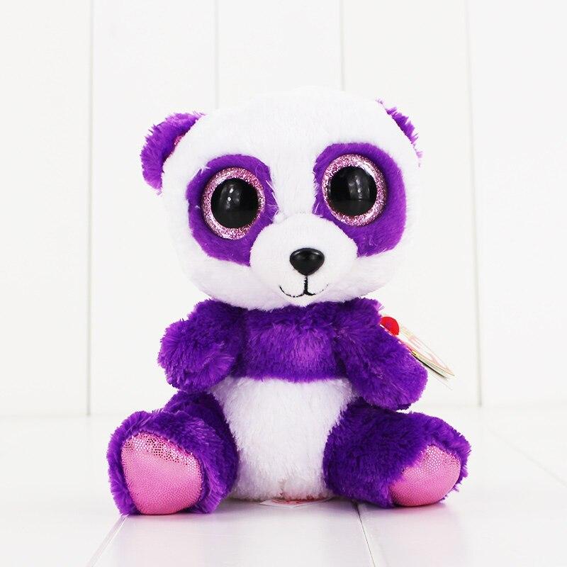 15 см Ty Beanie Боос большие Средства ухода для век плюшевые игрушки куклы фиолетовый панда ty подарок для маленьких детей Коллекция Мягкие плюше...