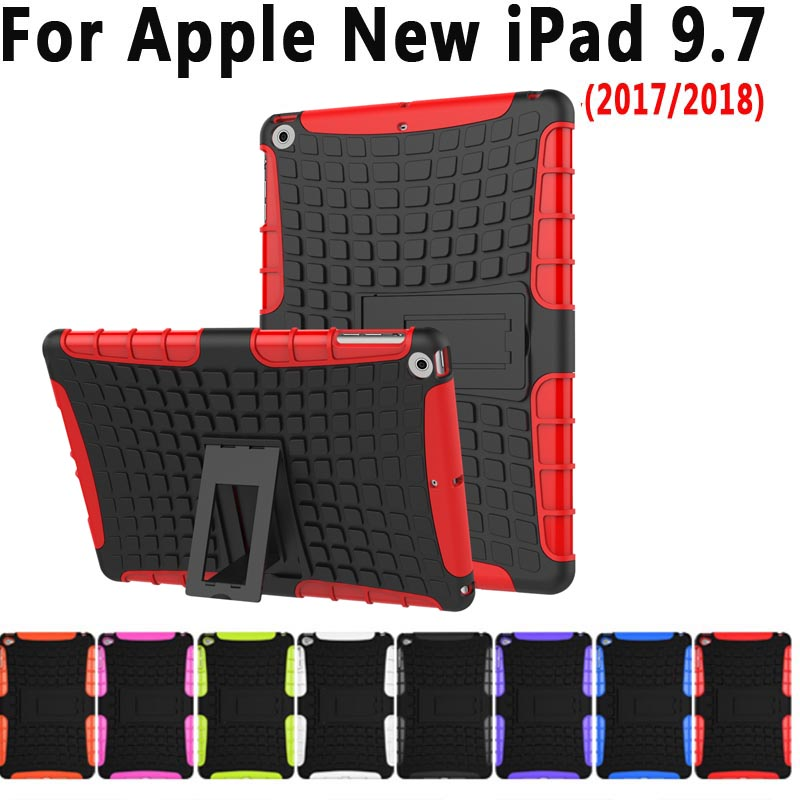 Case For New Apple iPad 9.7 2018 2017 Cover Funda Tablet Kid Safe Soft Silicone Hard PC Shockproof Back Stand Case for iPad 2018