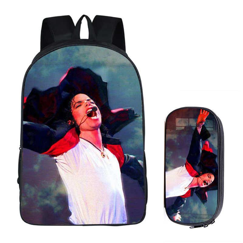 2019 plecaki studenckie DIY Michael Jackson złe Moonwalk Billie Jean luksusowe drukowanie fajne torby szkolne dla dzieci dla chłopców mężczyzna torba