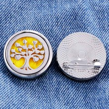 life Tree shape Stainless Steel Aromatherapy Brooch for Women and Women Brooch Fashion  Accessories Aromatherapy Jewelry недорго, оригинальная цена