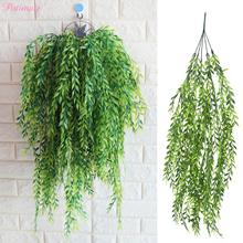 PATIMATE Artificial Leaves Plastic Plant Vine Home Party Decoration Birthday Decor Fake Green Supplies