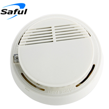 High Sensitive Wireless Smoke Detector Photoelectric Home Security System Cordless for gsm alarm system Free shipping