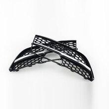 RS3 Стиль Серебряный Бар Передние Противотуманные Фары Решетка решетки Для Audi A3 Хэтчбек 2014-2015
