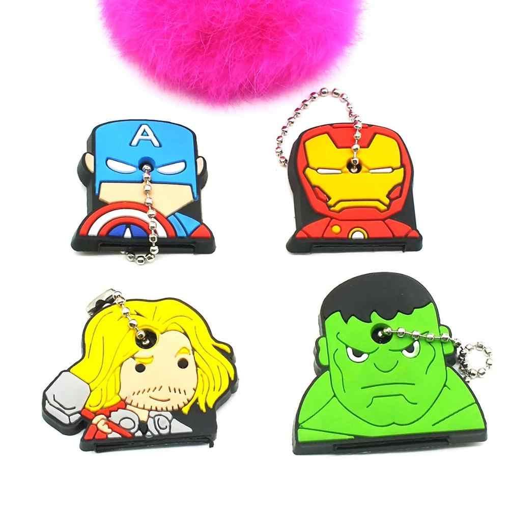 Gato dos desenhos animados do Ponto Silicone Tampa Tampas Minnie Chaveiro Anime Chaveiro Chave Do Carro Chaveiro The Avengers Titular Anel Chave Das Mulheres