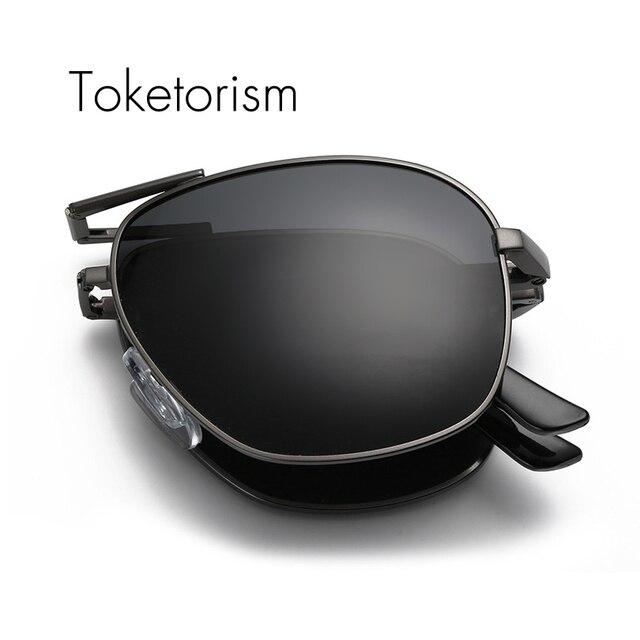New 2017 sun glasses women men folding sunglasses hd vision driving polarized foldable eyewear 543A