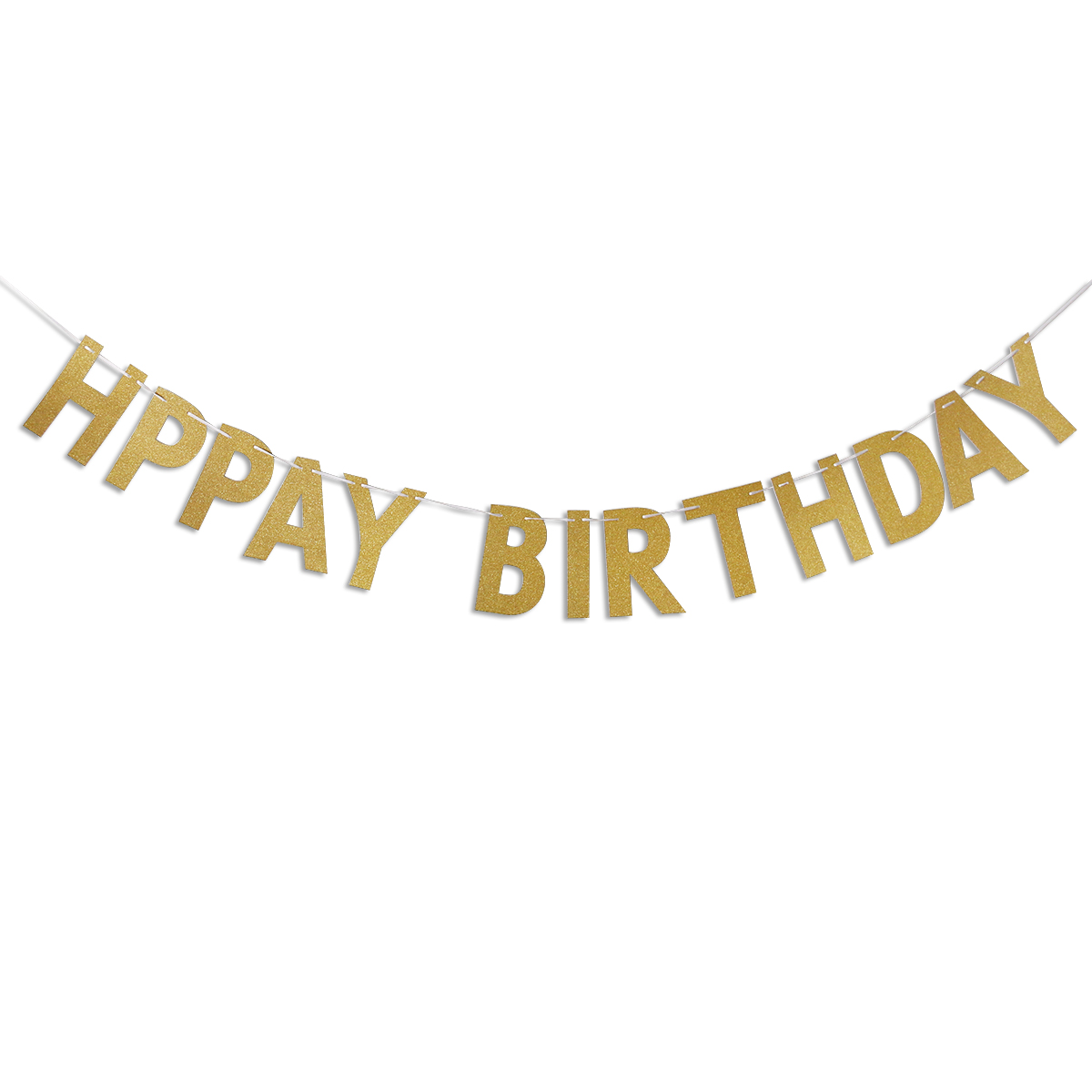 aliexpresscom buy happy birthday banner chic glitter gold party decorations versatile beautiful bunting flag garland from reliable flag garland suppliers - Gold Decorations