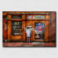Home Decoration Wall Arts Modern City Painting American Street Printed On Canvas Bedroom Wall Decoration