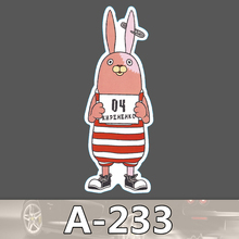 Bevle A-233 Gefängnis Kaninchen Wasserdicht DIY Aufkleber Für Laptop Gepäck Bike Refit Skateboard Auto Graffiti Cartoon Aufkleber