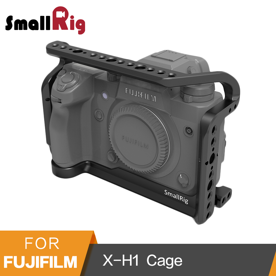 SmallRig Protective Cage for Fujifilm X-H1 Camera With Bulit-in NATO Rails Arca Swiss Plate - 2123