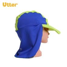 UTTER Baby Kids UPF50+ Sunscreen Hat Sun Production Swimming Cap Sunhat for Children Outdoor Sportwear