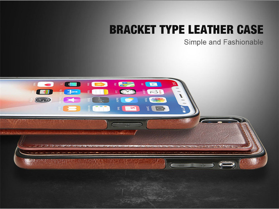 KISSCASE Retro PU Leather Case For iPhone X 6 6s 7 8 Plus 5S SE Multi Card Holders Case Cover For iPhone 8 7 6 6s Plus X Shells 15