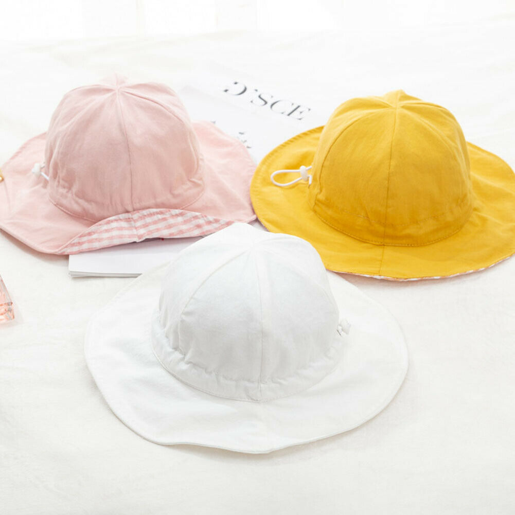 Summer Casual Toddler Infant Kids Babies Sun Cap Outdoor Baby Girls Boys Beach Adjustable Cotton Hat Lovely Candy Color Sun Hats