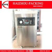 HZPK вакуумный упаковщик из нержавеющей стали Однокамерный Вакуумный пищевой герметик пластиковый пакет запайки автоматический герметик ва