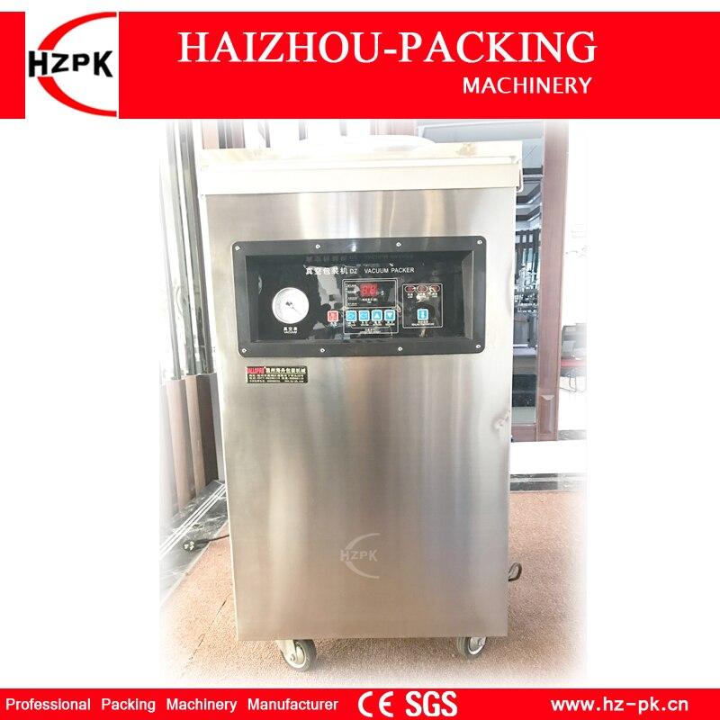 HZPK scelleur sous vide en acier inoxydable chambre unique scelleur sous vide alimentaire sac en plastique Machine d'étanchéité automatique scelleur sous vide DZ-500