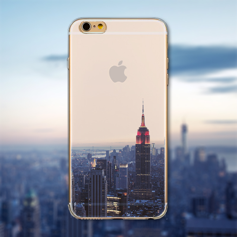 23d42f82c57 Super Deal Phone Cover For iPhone 6 6S Ultra Slim Soft Silicon Semi Transparent  Clear Beautiful Landscape Printed In Stock Hot-in Fitted Cases from ...