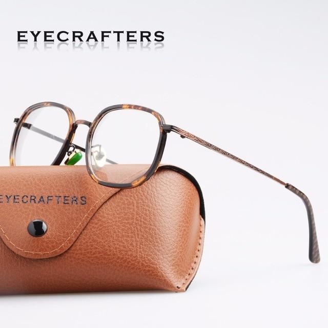 e533d8ecbac Eyecrafter Brand Designer Fashion Women EyeGlasses Frame Clear Lens Retro  Glasses Frames Mens Oval Eyeglasses Frames Vintage