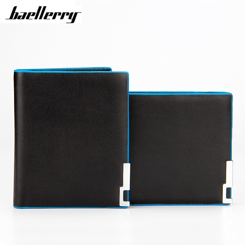 Baellerry Slim men wallet Thin wallet men leather purse soft men wallets luxury brand famous male clutch money bag small pocket baellerry business black purse soft light pu leather wallets large capity man s luxury brand wallet baellerry hot brand sale