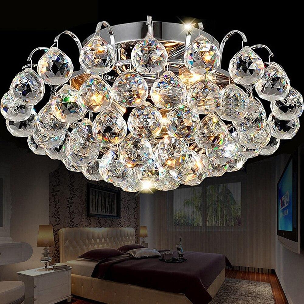 30CM Diameter Luxury crystal living room lamp fashion Crystal ceiling light K9 crystal lamp bedroom lamp