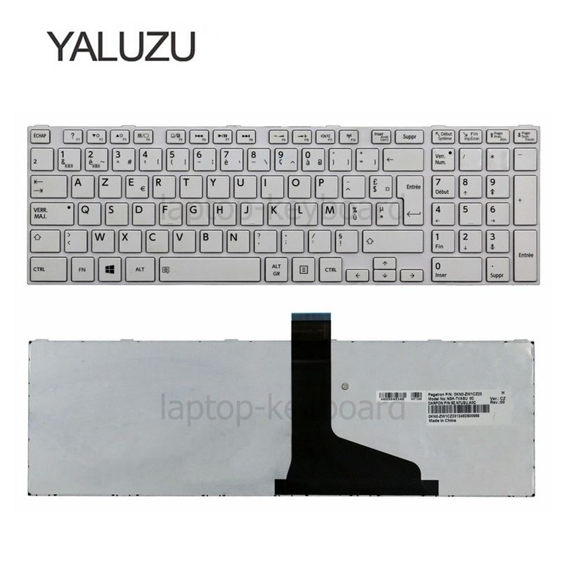 Image 2 - YALUZU French Keyboard for TOSHIBA SATELLITE C850 C855D C850D C855 C870 C870D C875 C875D L875 L875D AZERTY FR-in Replacement Keyboards from Computer & Office on