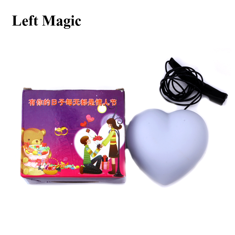 Heart Light (Red Color) Magic Tricks Appearing Lighting Stage Close Up Party Gimmick Props Lovely Comedy Accessories