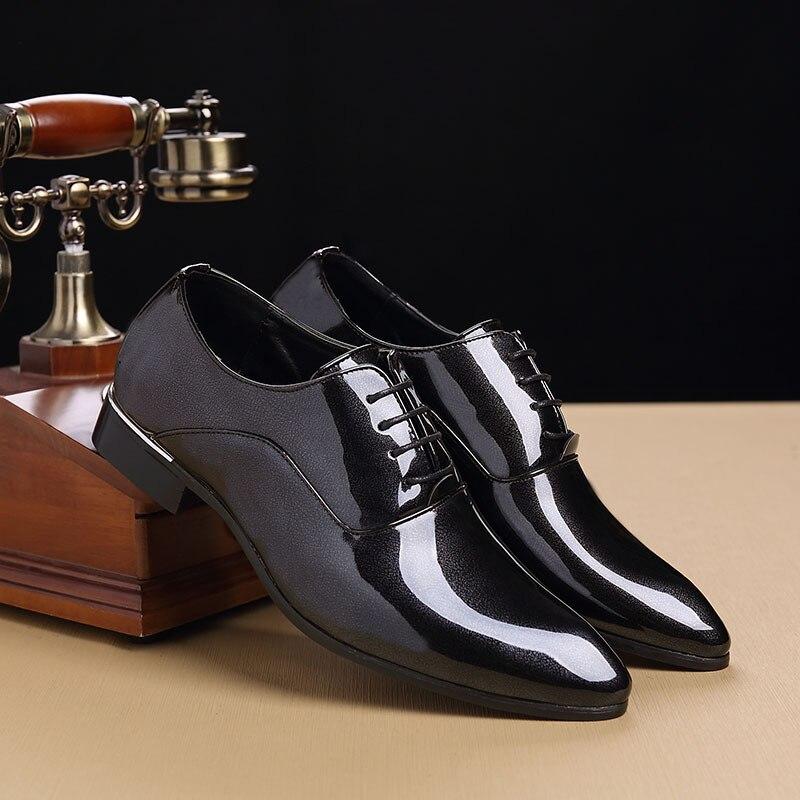 Dedo Oxford Homens Do Sapatos Vestem Masculino Luxo Couro Vinho Para Preto De Casamento Dos Apontou Sapato Shoes Se Moda vermelho Pé Northmarch pwq6d88
