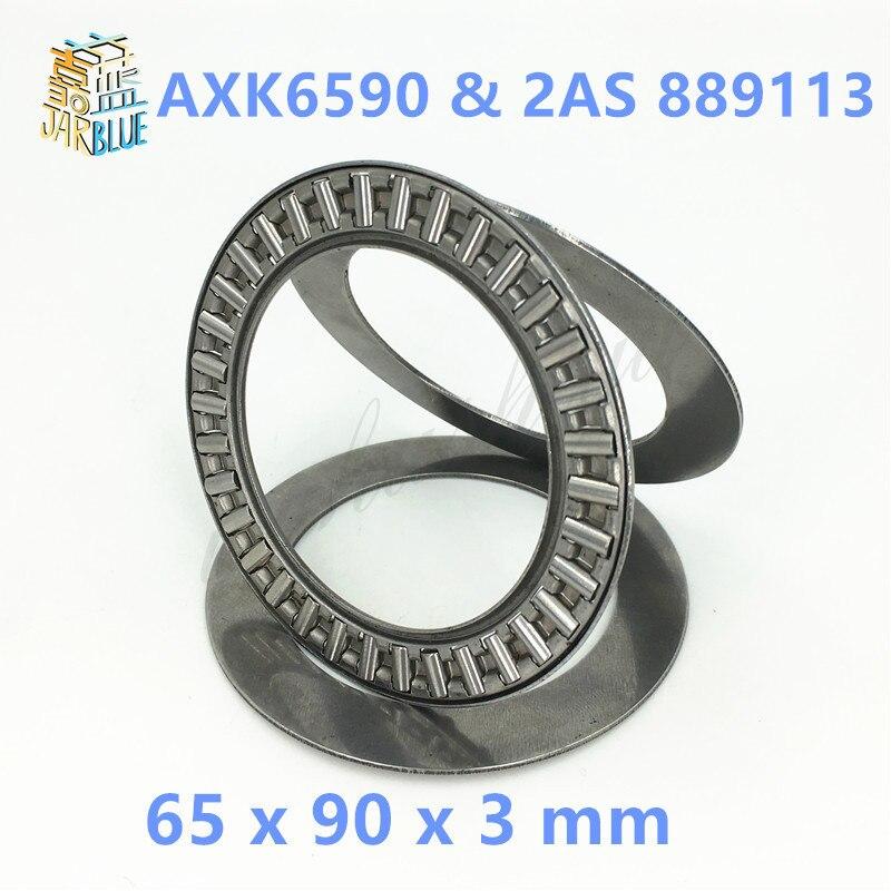 5Pcs AXK6590 & 2AS 889113 Thrust Needle Roller Bearing & Washers 65 x 90 x 3 mm Free shipping High Quality hk0306 needle roller bearing 3mmx6 5mmx6mm 3x6 5x6 mm hk0306tn for 3mm shaft