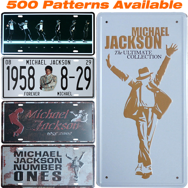 Michael Jackson ] Car License Plate USA Vintage Home Decor Tin Sign ...