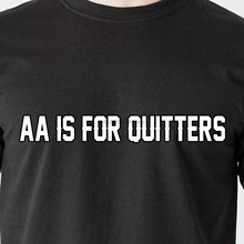AA IS FOR QUITTERS beer vodka booze party car drunk cop bar retro Funny T-Shirt(2)(China)