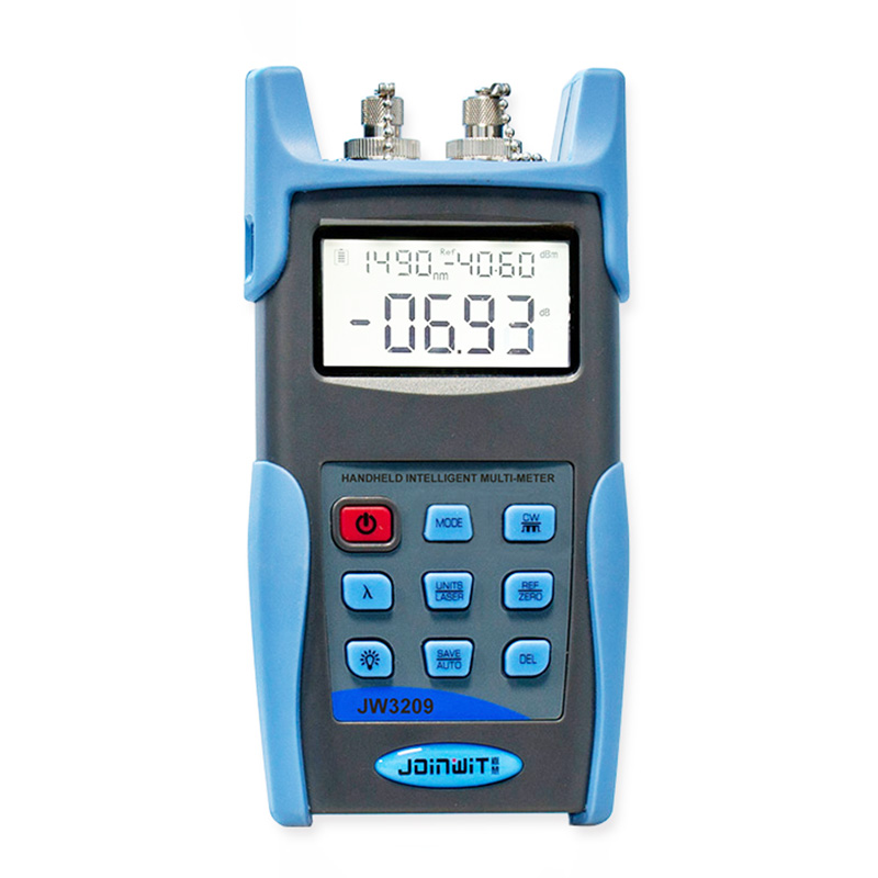Multi-function JW3209C Optical Multimeter -50 ~ +26 dBm Fiber Optic Power Meter Integrates a Laser Source and USB Data Storage