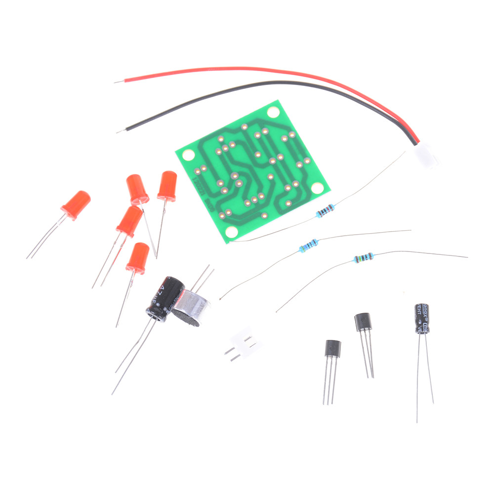 Voice Control LED Melody Light LED Component Parts Design DIY Electronic Production Kit 34 * 34MM